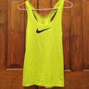 Nike Neon Green Dri-Fit running tank top